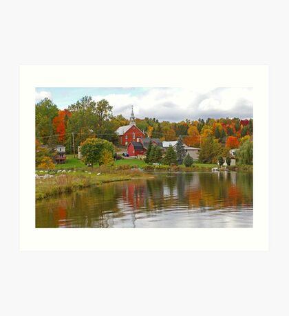 Autumn in Mont Ste-Marie, Quebec Art Print