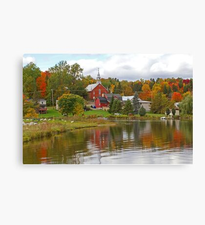 Autumn in Mont Ste-Marie, Quebec Canvas Print