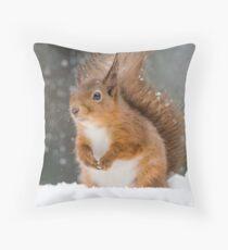 Cute Red Squirrel Throw Pillow