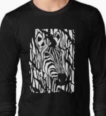 Zebra Project No.1- big logo white print Long Sleeve T-Shirt