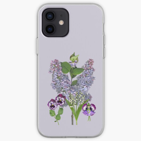 Purple Spring Garden with two Fairies iPhone Soft Case