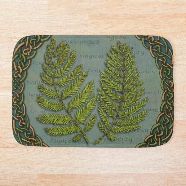 Celtic Tree Calendar Ferns Bath Mat