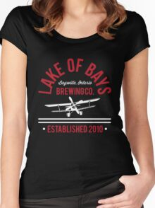 Lake of Bays Retro ft Crosswind Women's Fitted Scoop T-Shirt