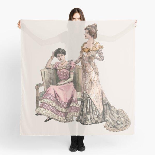 Two edwardian Ladies wearing ballgowns Scarf