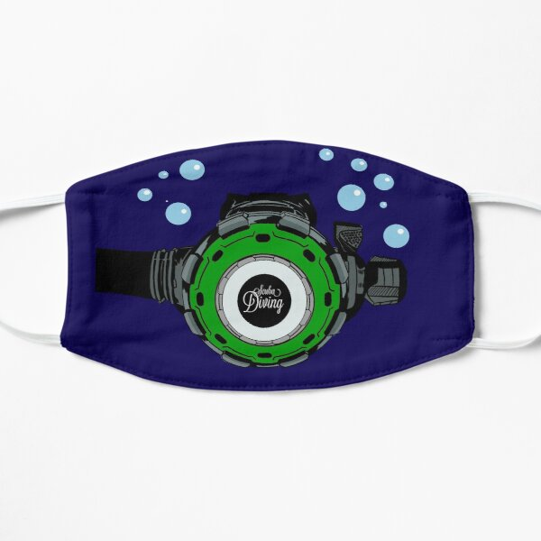 scuba diving regulator diving regulator green Flat Mask