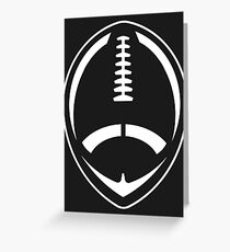 White Vector Football Greeting Card