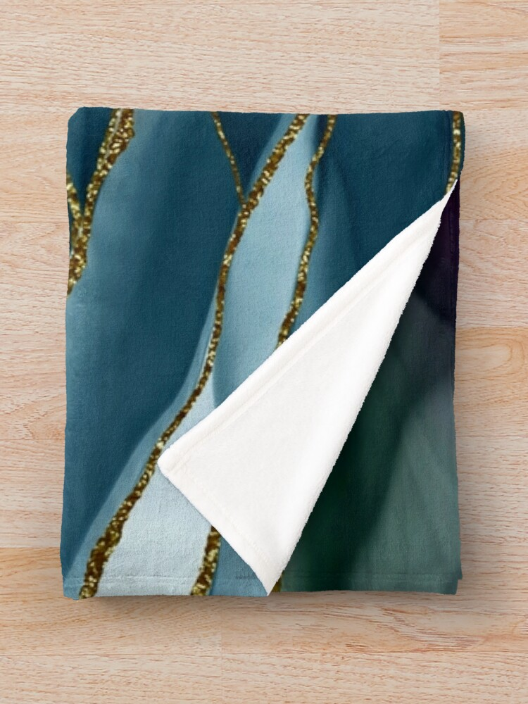Alternate view of Evening Glow Marble Landscapes 1 Throw Blanket