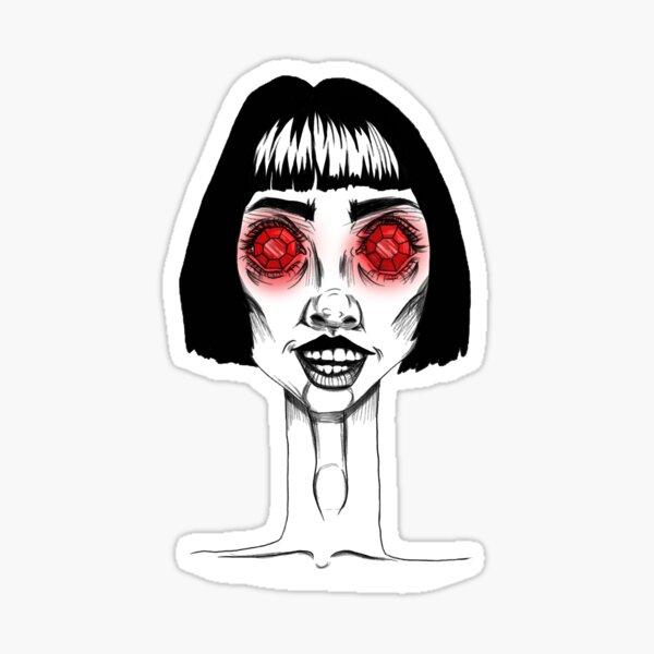 Rhinestone eyes Sticker