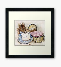 Mrs Titmouse and Baby Framed Print