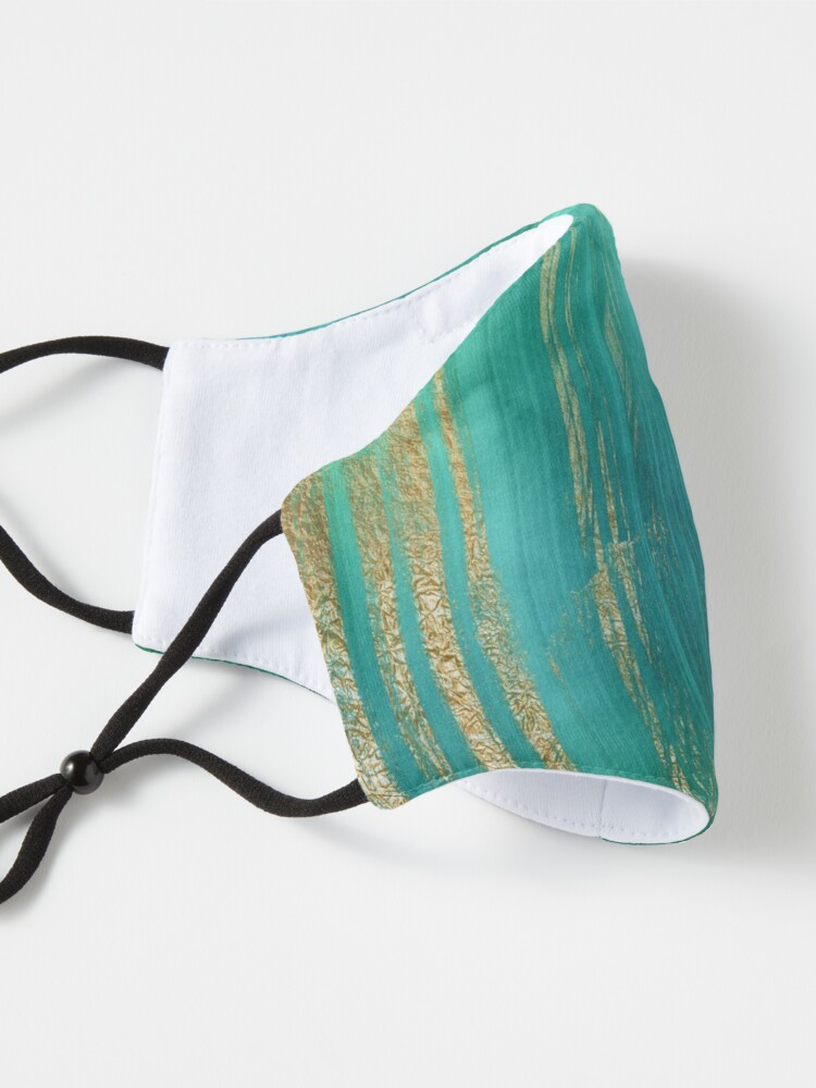 Alternate view of Malachite Green Marble with Gold Veins Mask