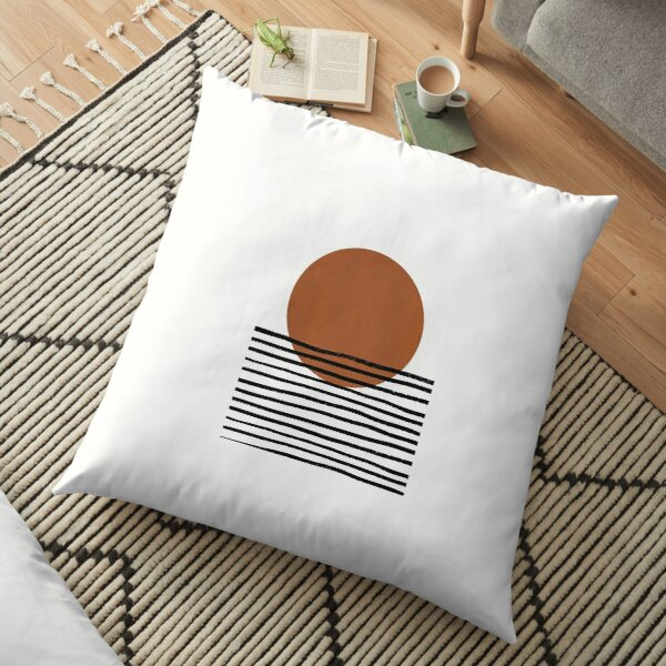 Boho Lines and Shapes Floor Pillow
