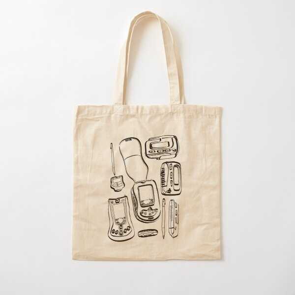 Retro tech - Pagers and Palm Pilots  Cotton Tote Bag