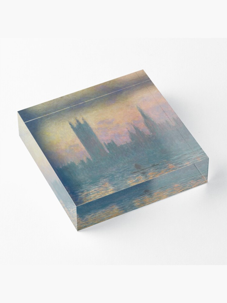 Alternate view of The Houses of Parliament Sunset by Claude Monet Acrylic Block