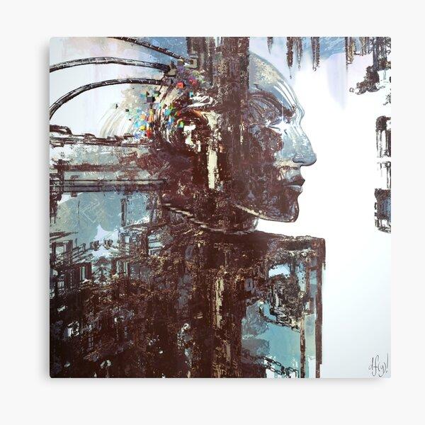 Cyberpunk Profile Metal Print
