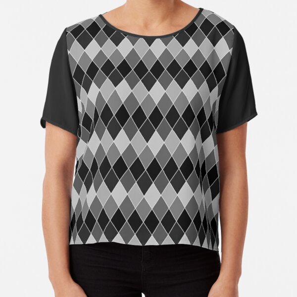 Black Diamond Chiffon Top
