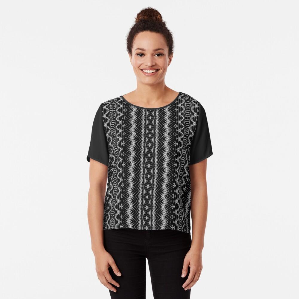 LaFara Crochet 1 Chiffon Top
