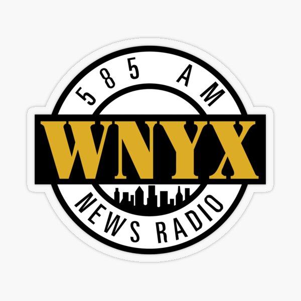 WNYX 585 AM News Radio Transparent Sticker