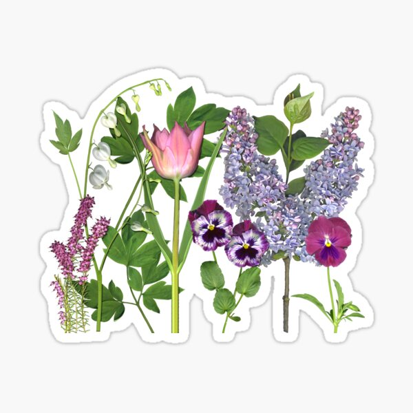 A Spring Garden Sticker
