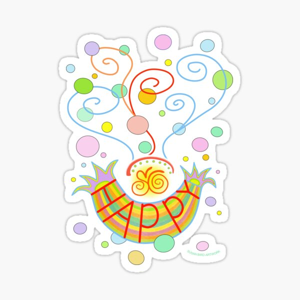 So Happy II Sticker