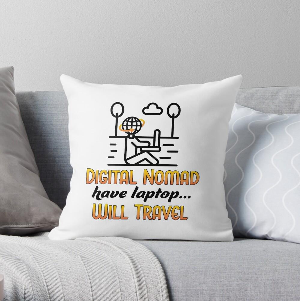 Digital Nomad. Throw Pillow