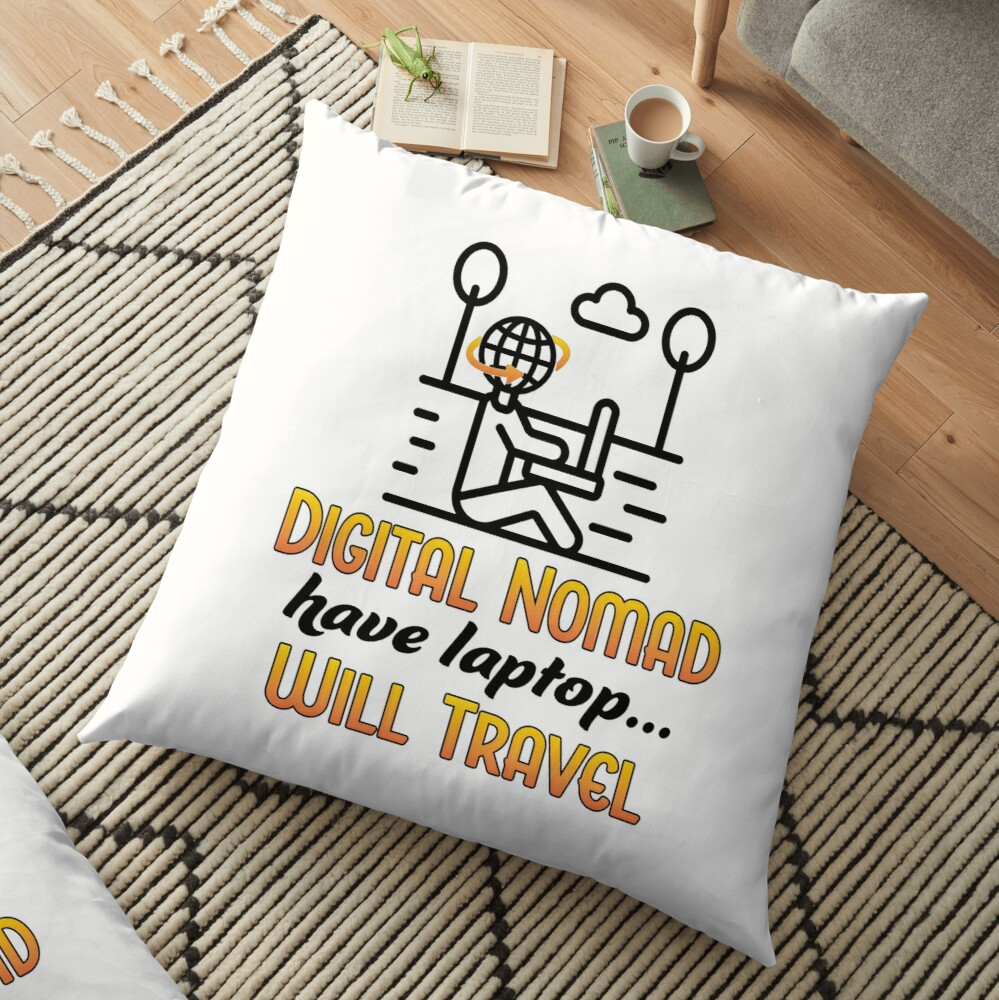 Digital Nomad. Floor Pillow