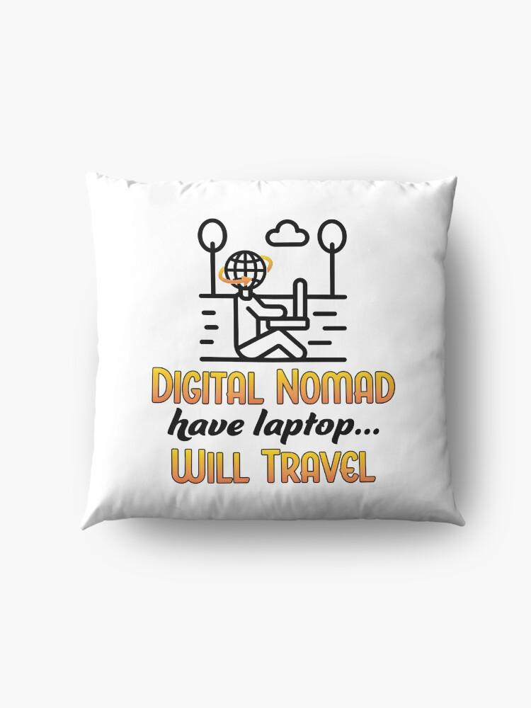 Alternate view of Digital Nomad. Floor Pillow