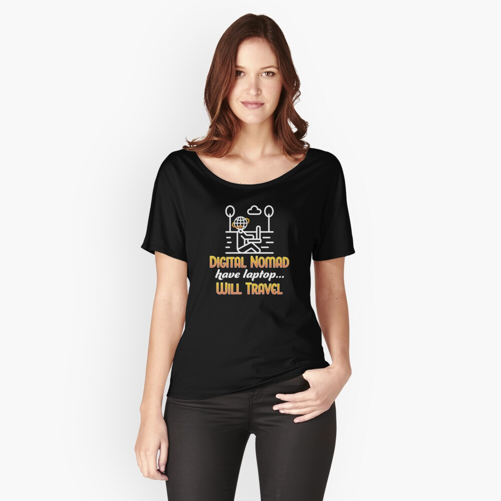 Digital Nomad. Relaxed Fit T-Shirt