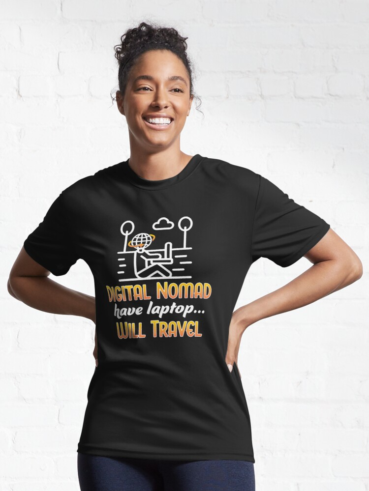 Alternate view of Digital Nomad. Active T-Shirt