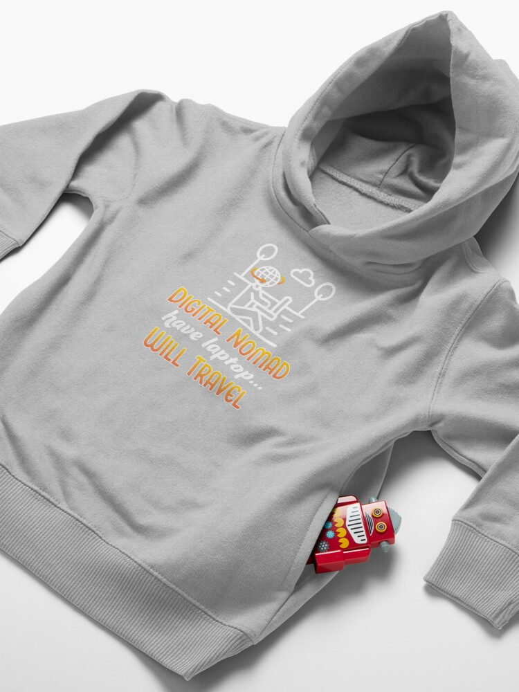 Alternate view of Digital Nomad. Toddler Pullover Hoodie