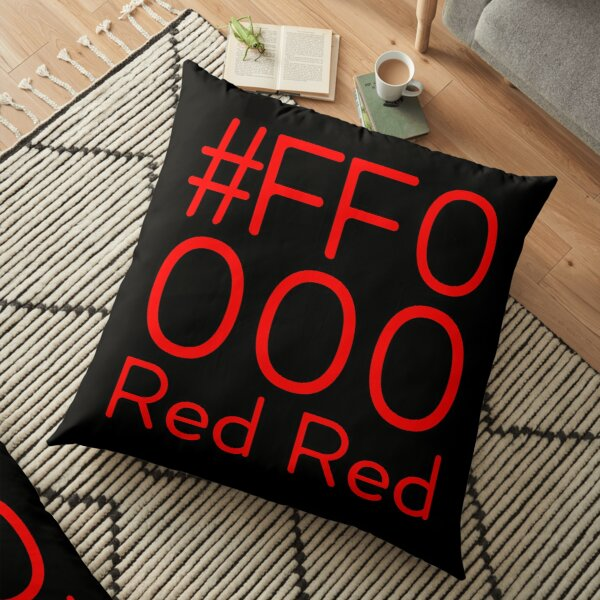 # FF0000 color red RGB Floor Pillow