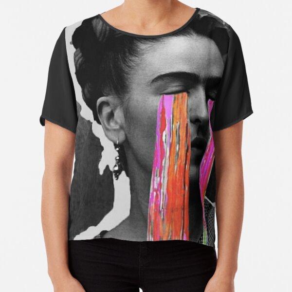 Black And White Frida Kahlo Chiffon Top