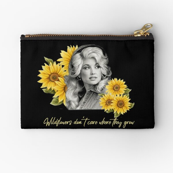 Dolly Parton Tennessee Wildflowers don't care where they grow Zipper Pouch