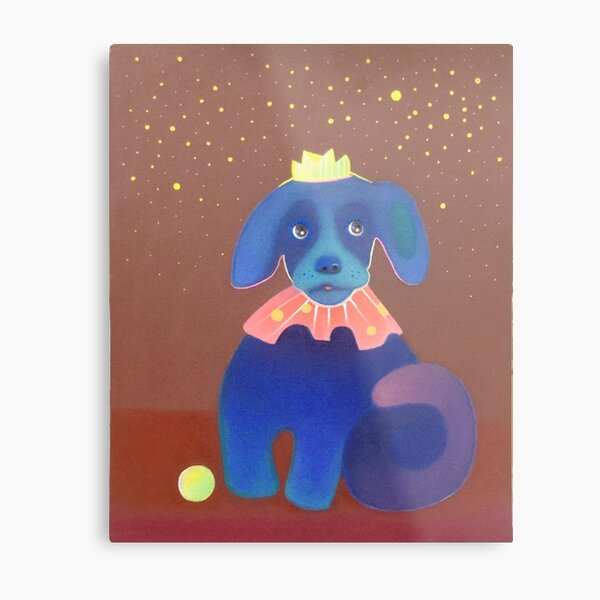 Prince of Dogs hoping for more #balls from the #stars in the #sky Metal Print
