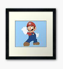 Simplistic Mario  Framed Print