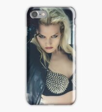Beautiful and sexy blonde with a baseball bat iPhone Case/Skin