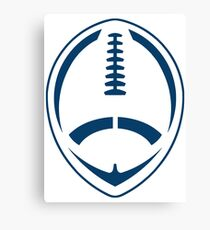 Blue Vector Football Canvas Print