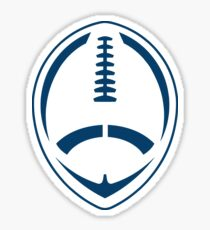 Blue Vector Football Sticker
