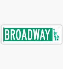 Broadway (mit Freiheitsstatue), Straßenschild, NYC Sticker