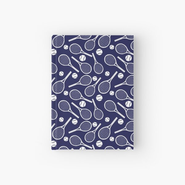 Tennis racket and ball Hardcover Journal