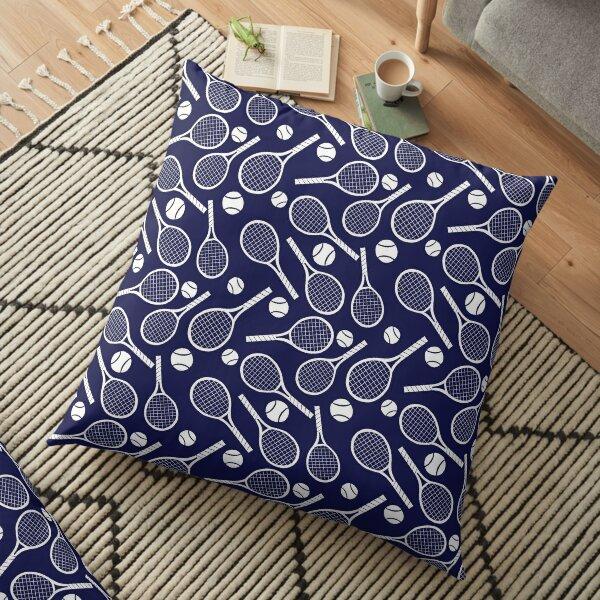 Tennis racket and ball Floor Pillow