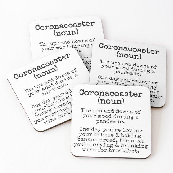 Coronacoaster Definition - Quarantine 2020 - Lockdown Lingo Coasters (Set of 4)