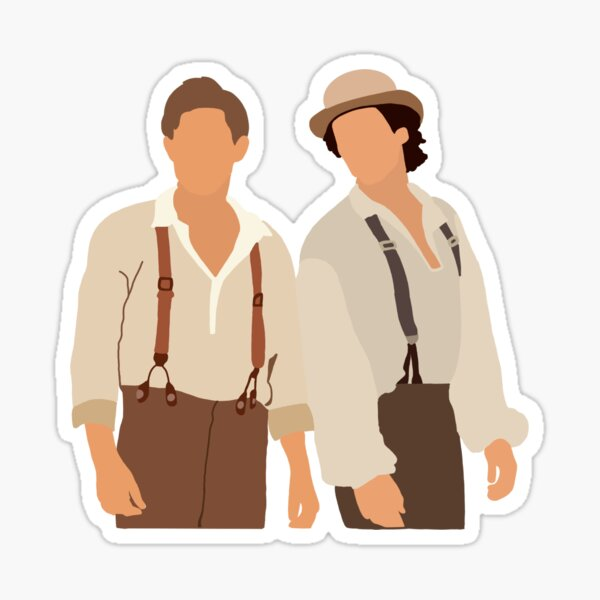 Damon and Stefan 1864 Sticker
