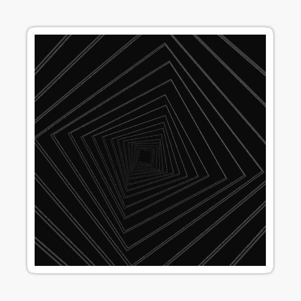 warp ( falling into space) Sticker