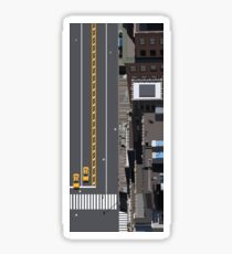 New York Street Illustration Sticker