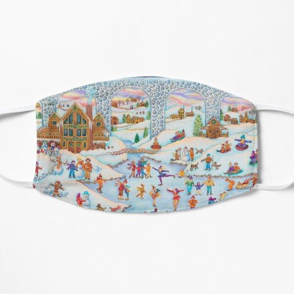 Winter Skating Party Flat Mask