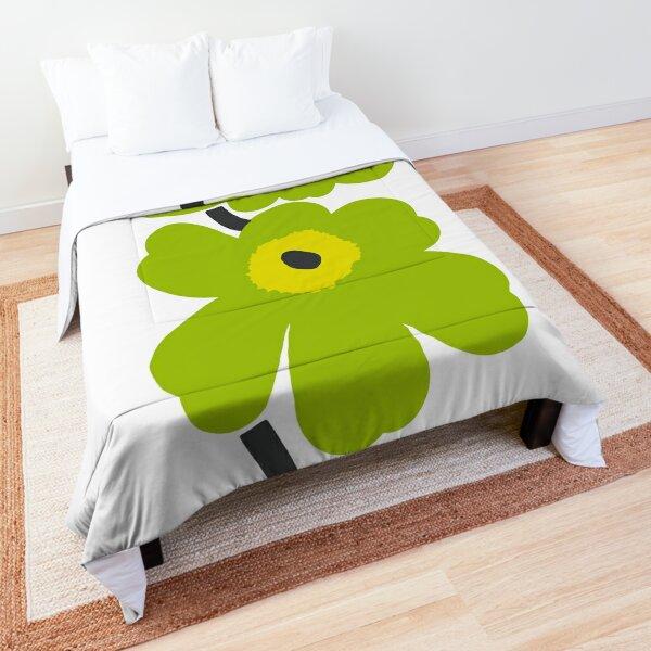 Marimekko green Floral design Comforter