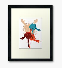 Cartoon Hands with Gestures Framed Print