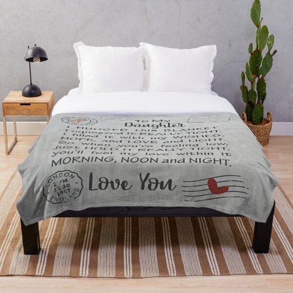 Daughter Pillow - Grey daughter - daughter - grey - cute daughter - United Kingdom - fun daughter Throw Blanket