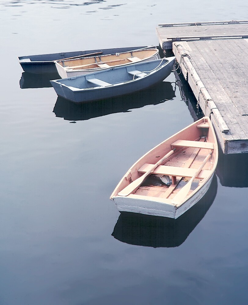 Dories at the Dock - Rockport Harbor by Peter J Sucy
