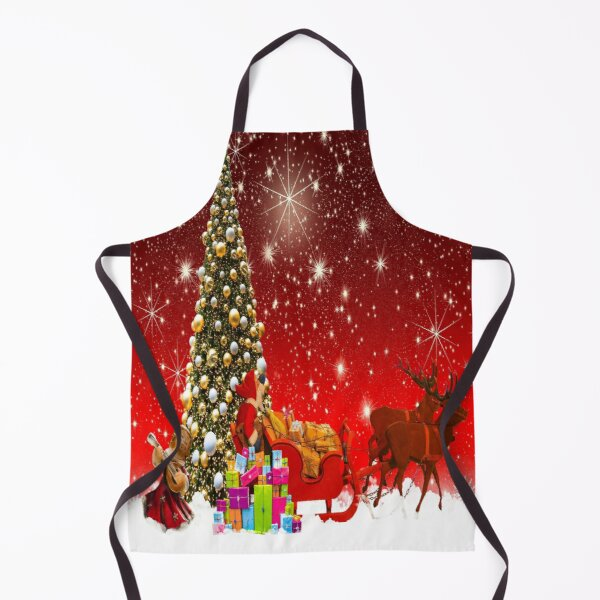 Red Cristmas Apron